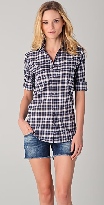DSQUARED2 Plaid Button Down Shirt