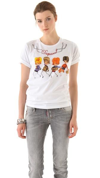 DSQUARED2 Cartoon T-Shirt
