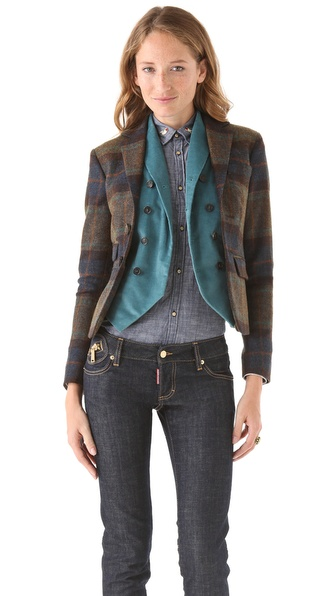 DSQUARED2 Double Deany Blazer with Cold Vest