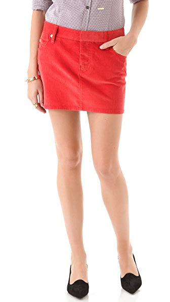 DSQUARED2 Corduroy Miniskirt with Argyle Pockets