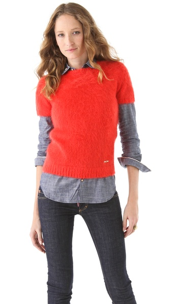 DSQUARED2 Shrunken Mohair Sweater