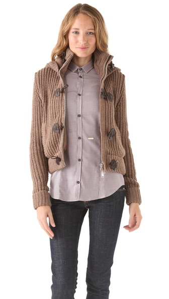 DSQUARED2 Toggle Sweater Coat