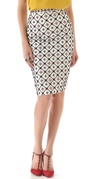 DSQUARED2 Diana Strass Pencil Skirt