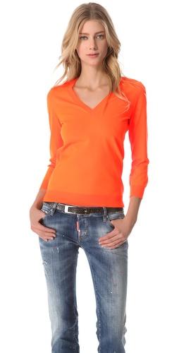 DSQUARED2 Fluorescent V Neck Sweater