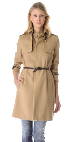 Shop DSQUARED2 Ilsa Lund Trench Coat and DSQUARED2 online - Apparel,Womens,Outwear,Trench, online Store