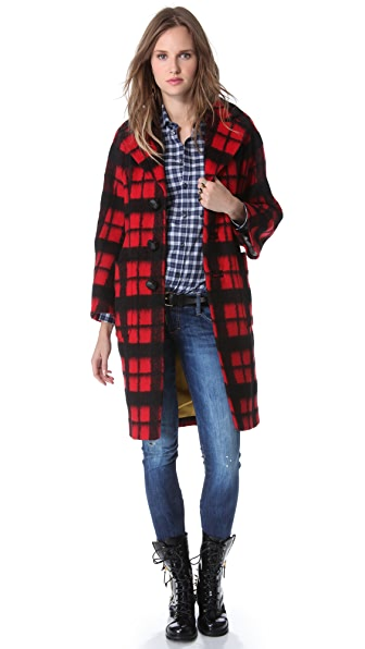 DSQUARED2 Plaid Coat