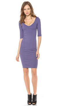 DSQUARED2 Long Sleeve Open Neck Dress
