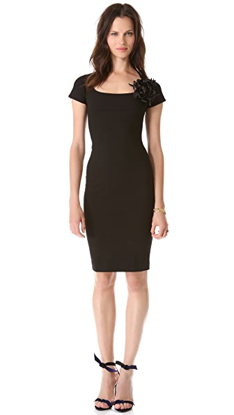 DSQUARED2 Sheath Dress with Brooch