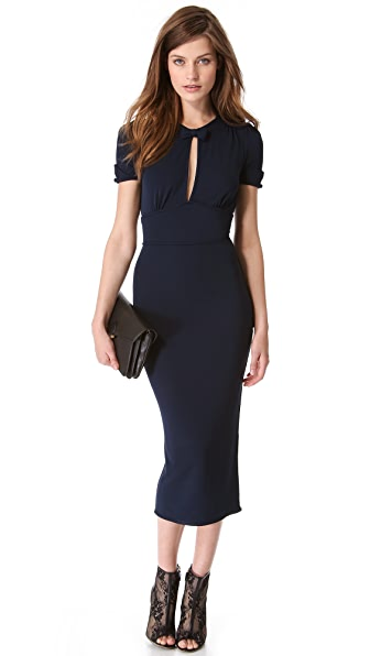 DSQUARED2 Puff Shoulder Neck Tie Dress