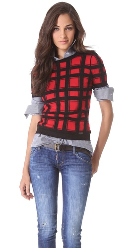 DSQUARED2 Angora Check Sweater