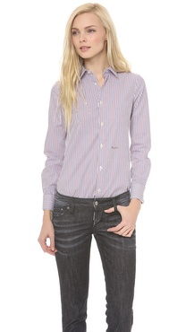 DSQUARED2 Long Sleeve Stripe Blouse