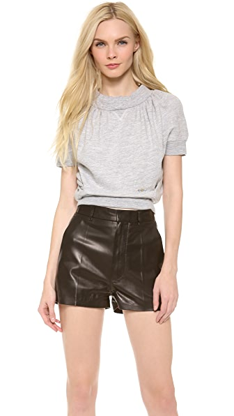 DSQUARED2 Cropped Short Sleeve Sweatshirt