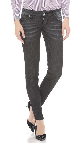 DSQUARED2 Black Denim Skinny Jeans
