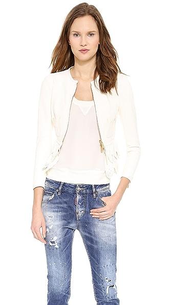 DSQUARED2 Ruffle Leather Jacket