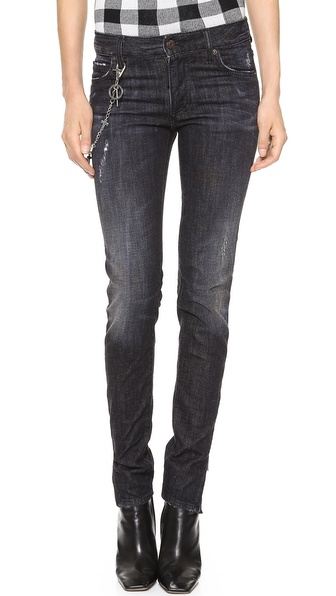 DSQUARED2 Mid Waist Super Slim Jeans