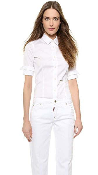 Dsquared2 Dsquared2 Button Classic Shirt (White)