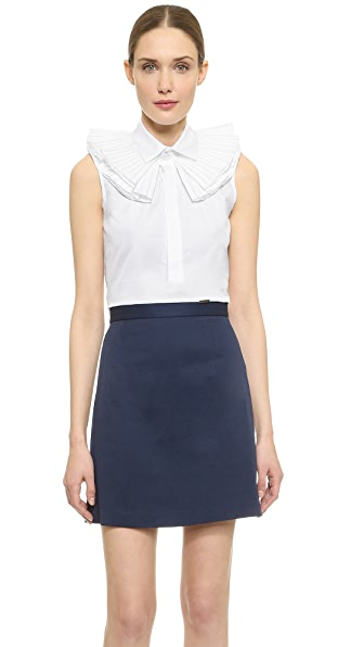 Dsquared2 Dsquared2 Shelly Boxy Sleeveless Shirt (White)