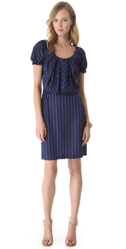 Shop David Szeto Coquette Short Sleeve Dress and David Szeto online - Apparel,Womens,Dresses,Day_to_Night, online Store