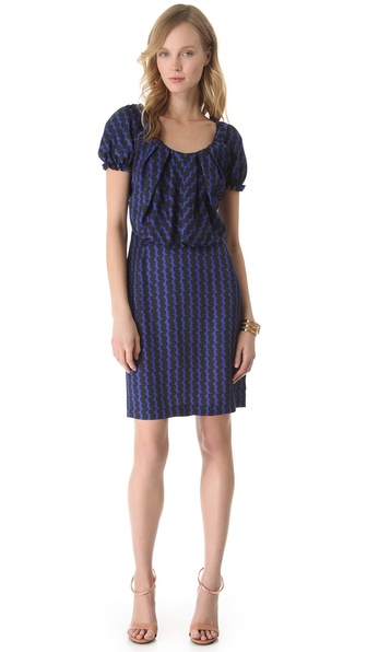 David Szeto Coquette Short Sleeve Dress