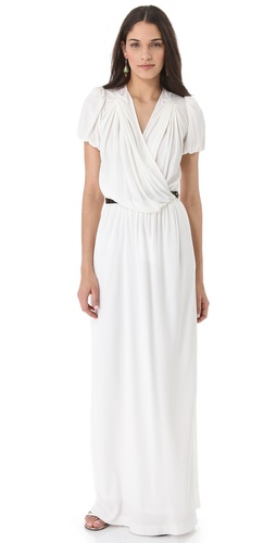 David Szeto Viola Dress with Patent Leather Belt
