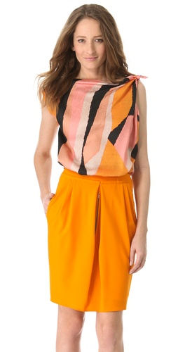 David Szeto Jeannie Knot Top