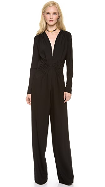 David Szeto Crepe Wool Jumpsuit