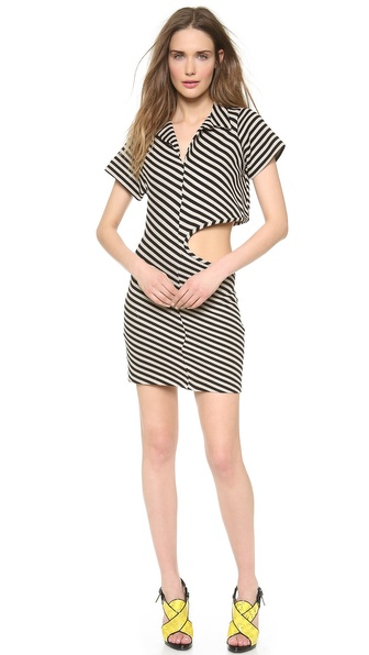David Szeto Knit Polo Shirt Dress