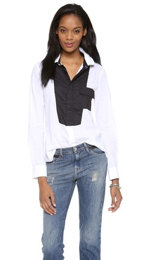 EACH x OTHER Robert Montgomery Patchwork Shirt