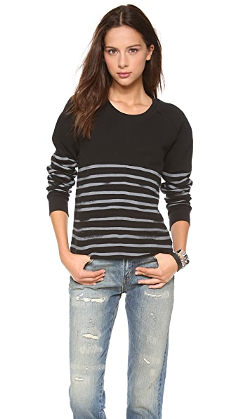 EACH x OTHER Naco Waffle Stripe Sweatshirt