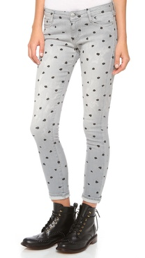 EACH x OTHER Naco Polka Dot Skinny Jeans