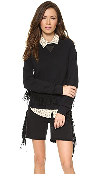 EACH x OTHER Ruiz Stephinson Leather Fringe Sweater