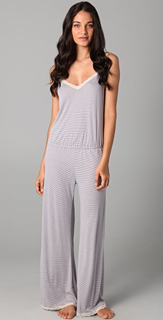 Eberjey Vintage Stripes Jumpsuit