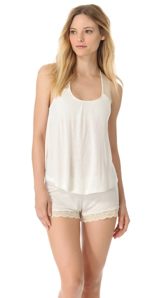 Eberjey Crochet Dreams Racer Back Tank
