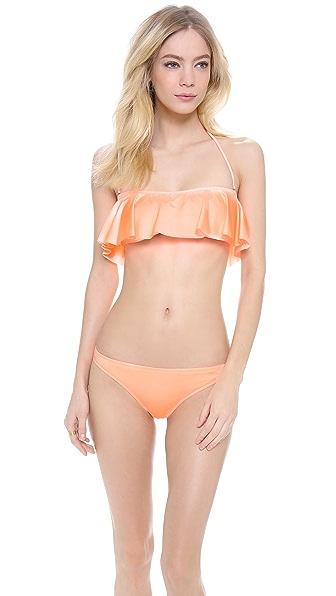 Eberjey Beach Glow Tutu Bikini Top