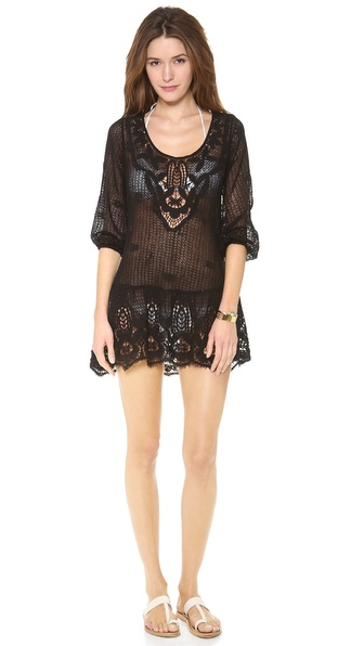 Eberjey Traveler Natalya Peplum Cover Up Dress