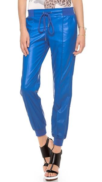 Emma Cook Leatherette Jogging Pants
