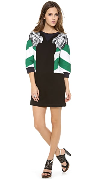 Emma Cook Stripe Sleeve Sweatshirt Dress