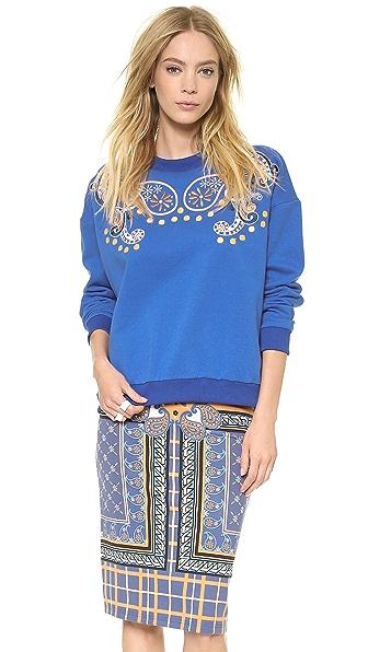 Emma Cook Paisley Sweatshirt
