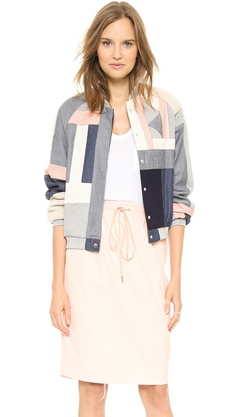 Emma Cook Patchwork Bomber Jacket