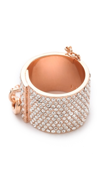 Eddie Borgo Pave Safety Chain Ring