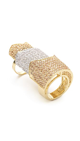 Eddie Borgo Pave Two Tone Hinged Plate Ring