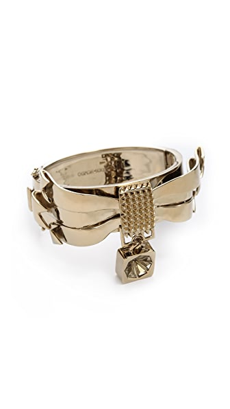 Eddie Borgo Notched Ribbon Cuff