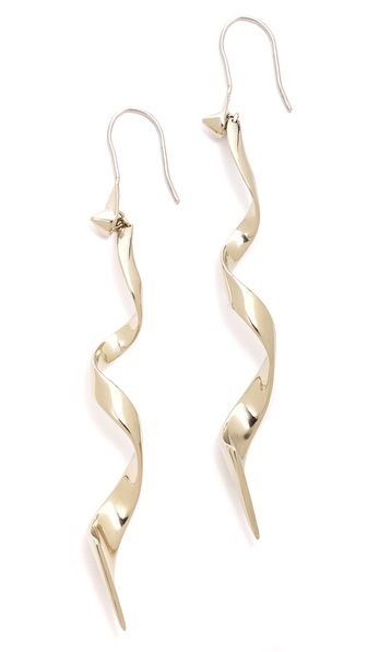 Eddie Borgo Curled Ribbon Earrings