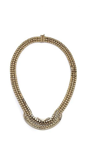 Eddie Borgo Fold Over Ribbon Necklace