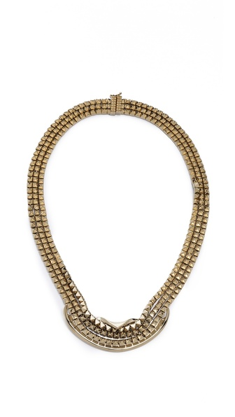 Eddie Borgo Fold Over Ribbon Necklace