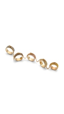 Eddie Borgo Pave Five Finger Ring