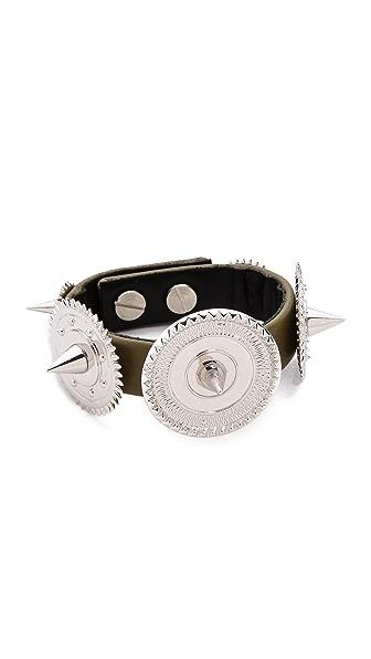 Eddie Borgo Medallion Studded Bracelet
