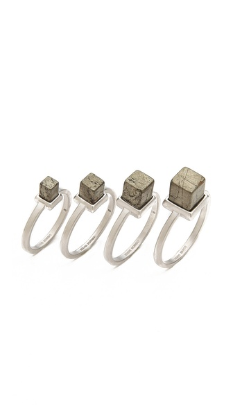 Eddie Borgo Stackable Cube Rings