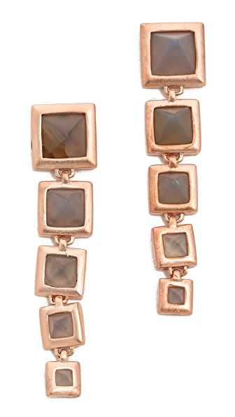 Eddie Borgo Graduated Pyramid Drop Earrings