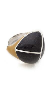Eddie Borgo Inlaid Three-Sided Pyramid Ring